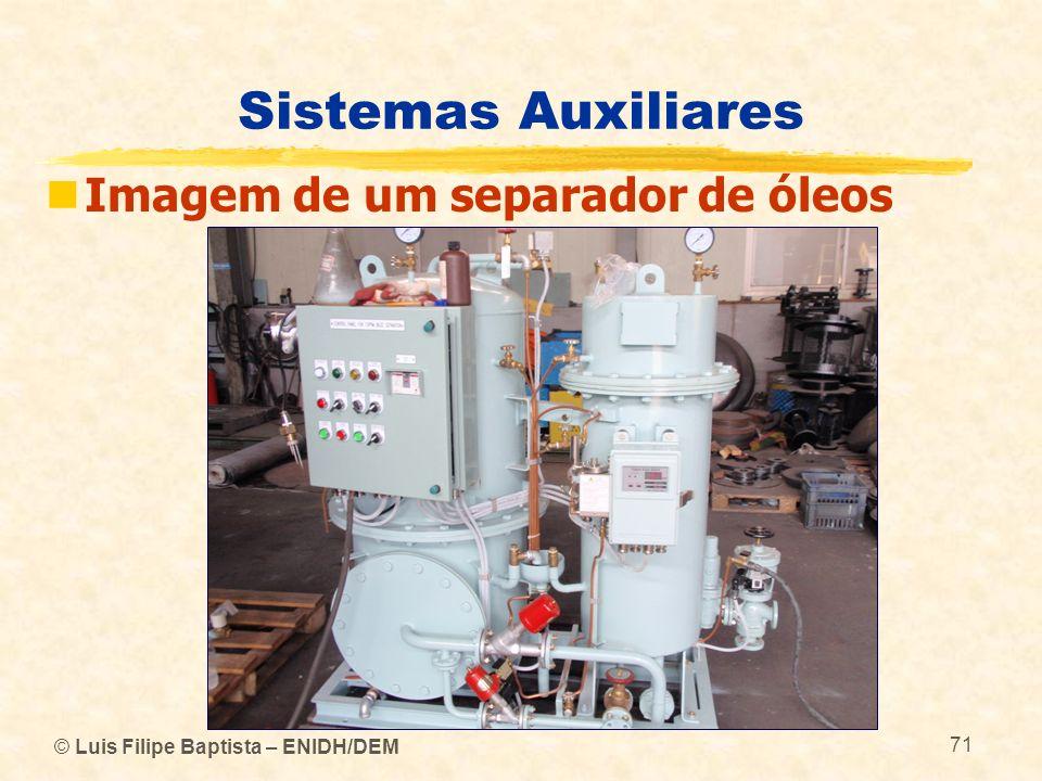 © Luis Filipe Baptista – ENIDH/DEM 71 Sistemas Auxiliares Imagem de um separador de óleos