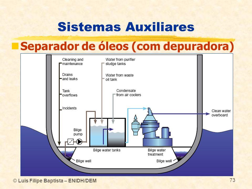 © Luis Filipe Baptista – ENIDH/DEM 73 Sistemas Auxiliares Separador de óleos (com depuradora)