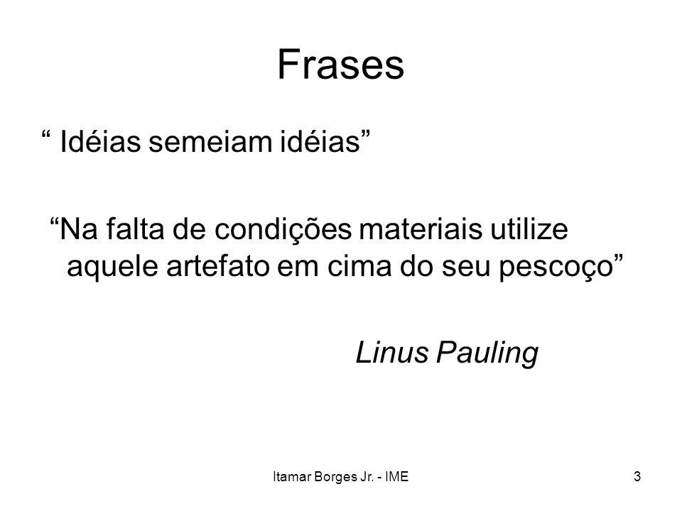 3 Frases Idéias semeiam idéias Na falta de condições materiais utilize aquele artefato em cima do seu pescoço Linus Pauling