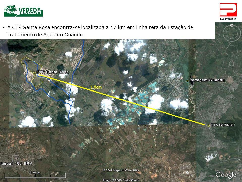 CTR Santa Rosa 11. CONSIDERAÇÕES IMPORTANTES 17km A CTR Santa Rosa encontra-se localizada a 17 km em linha reta da Estação de Tratamento de Água do Gu