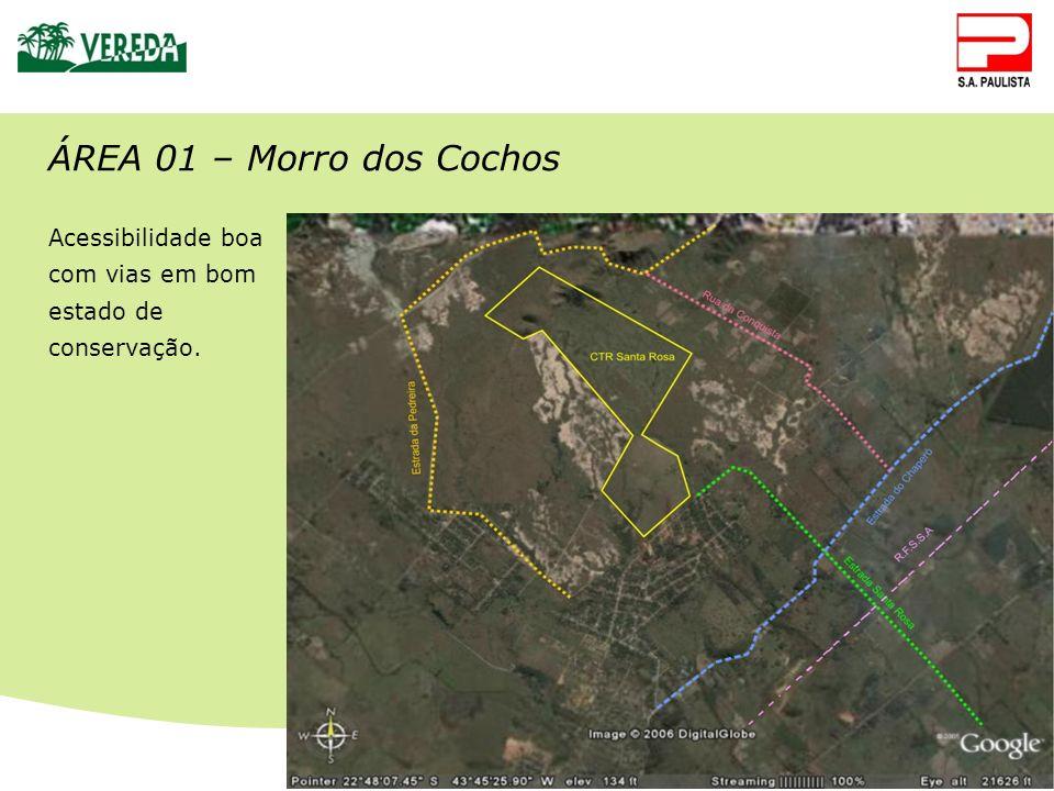 CTR Santa Rosa ÁREA 01 – Morro dos Cochos Acessibilidade boa com vias em bom estado de conservação.