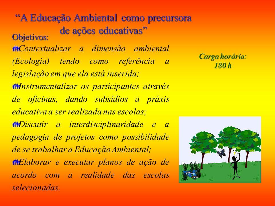 Contribuir para a formação profissional graduandos Biologia e Pedagogia da UFPA prática docente: âmbito da Educação Ambiental; Desenvolver competência