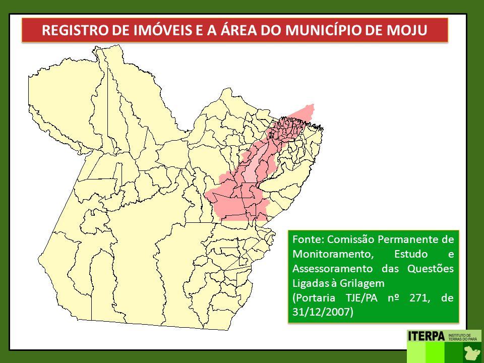 A área irregular equivale a 4,96 vezes o tamanho do município Fonte: Comissão Permanente de Monitoramento, Estudo e Assessoramento das Questões Ligada