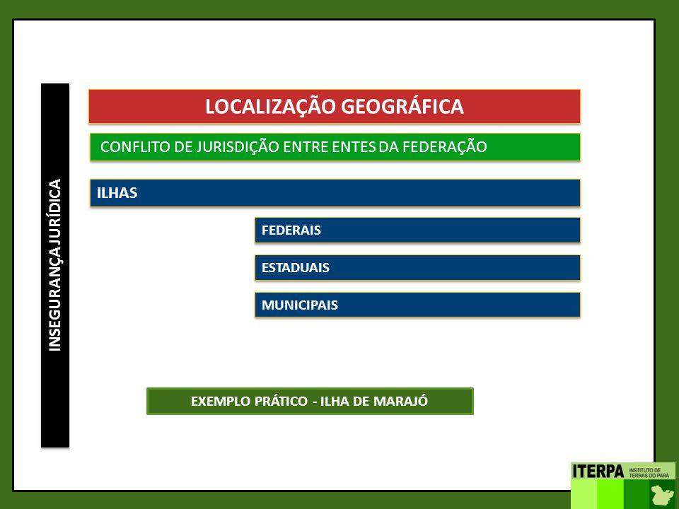 INSEGURANÇA JURÍDICA LOCALIZAÇÃO GEOGRÁFICA CONFLITO DE JURISDIÇÃO ENTRE ENTES DA FEDERAÇÃO ILHAS FEDERAIS ESTADUAIS MUNICIPAIS EXEMPLO PRÁTICO - ILHA