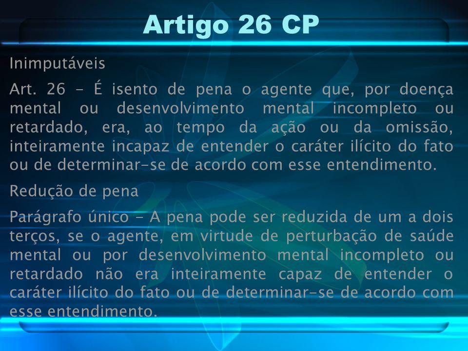 Artigo 26 CP Inimputáveis Art.