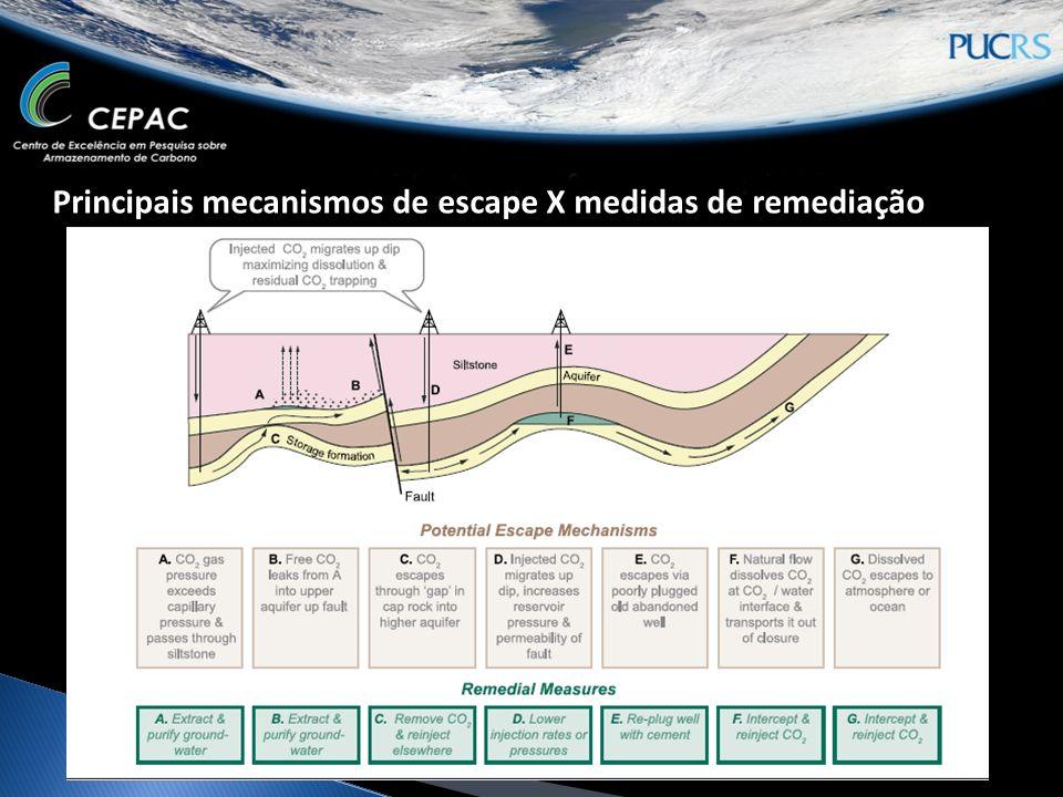 Principais mecanismos de escape X medidas de remediação