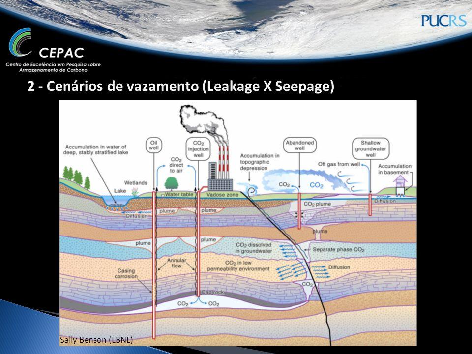 2 - Cenários de vazamento (Leakage X Seepage) Sally Benson (LBNL)