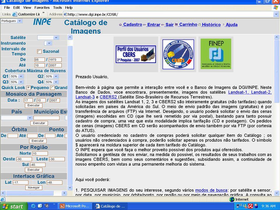 ACESSO PELA INTERNET www.dgi.inpe.br