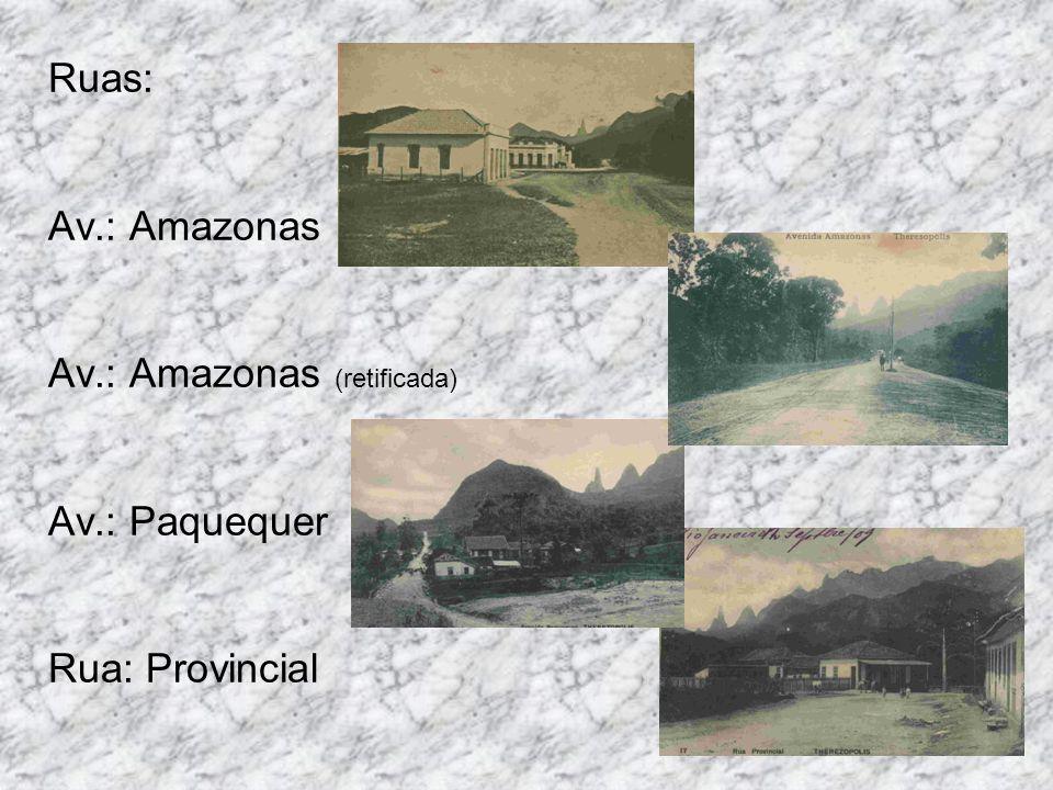 Ruas: Av.: Amazonas Av.: Amazonas (retificada) Av.: Paquequer Rua: Provincial