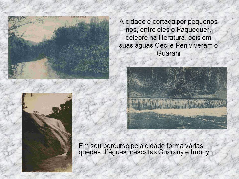 A cidade é cortada por pequenos rios, entre eles o Paquequer, célebre na literatura, pois em suas águas Ceci e Peri viveram o Guarani Em seu percurso