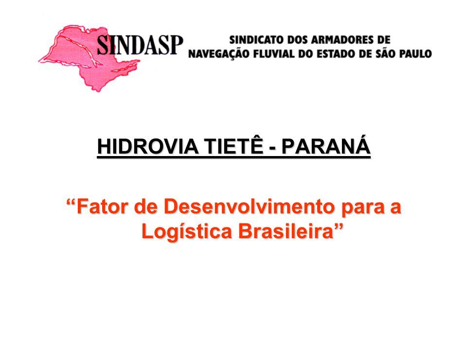 HIDROVIA TIETÊ-PARANÁ PRINCIPAIS REINVIDICAÇÕES DOS ARMADORES 1.