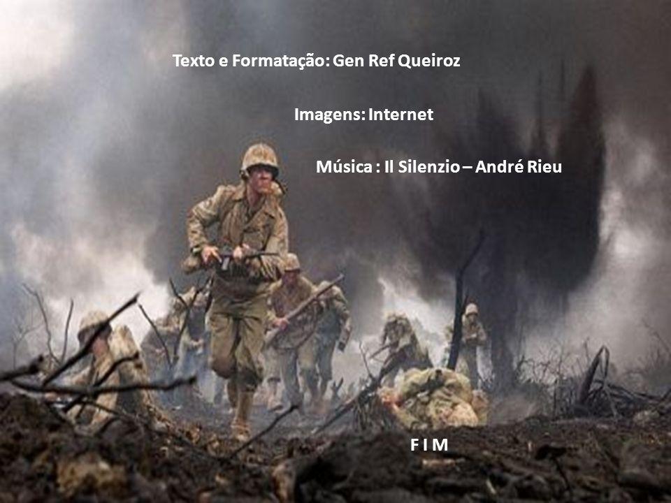 Mesmo com lágrimas nos olhos, o soldado continua em frente no cumprimento de seu dever, com a sua alma vestida de fé e esperança, sempre acreditando n