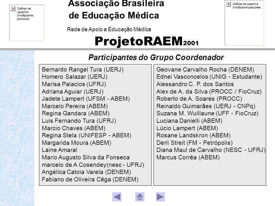 Participantes do Grupo Coordenador Geovane Carvalho Rocha (DENEM) Ednei Vasconcelos (UNIG - Estudante) Alessandro C. P. dos Santos Alex de A. da Silva