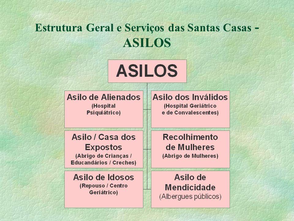 Estrutura Geral e Serviços das Santas Casas - ASILOS
