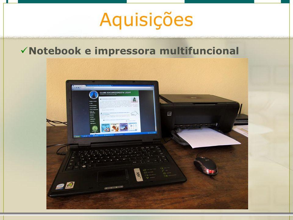 Aquisições Notebook e impressora multifuncional