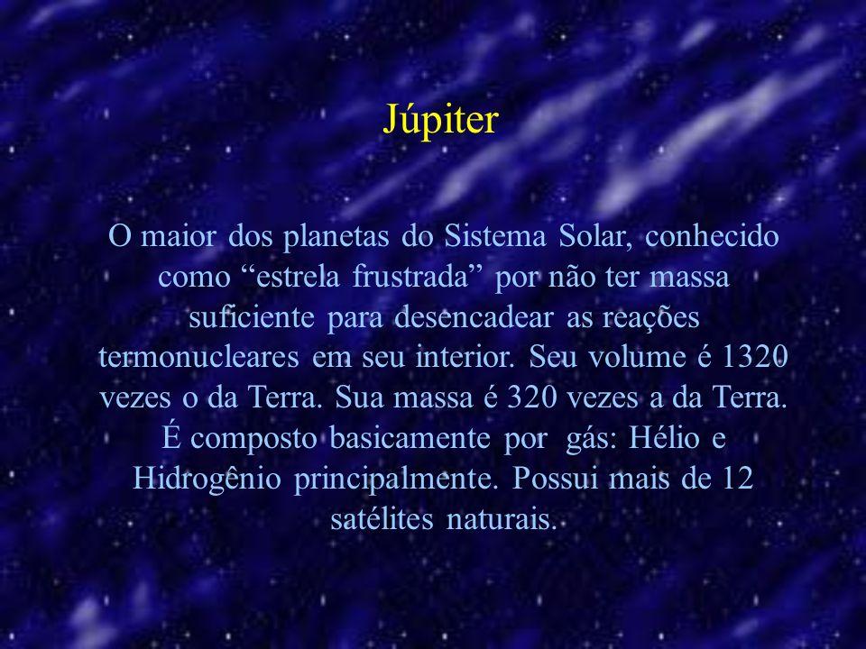 O maior dos planetas do Sistema Solar, conhecido como estrela frustrada por não ter massa suficiente para desencadear as reações termonucleares em seu interior.