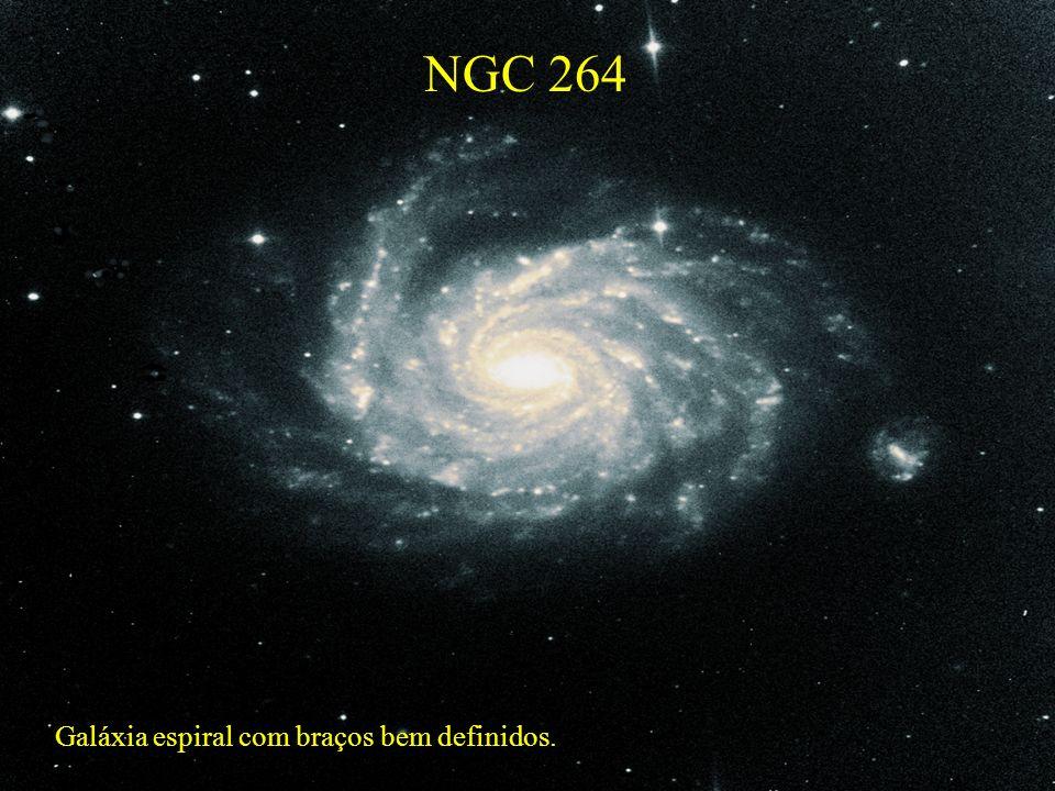 NGC 264 Galáxia espiral com braços bem definidos.