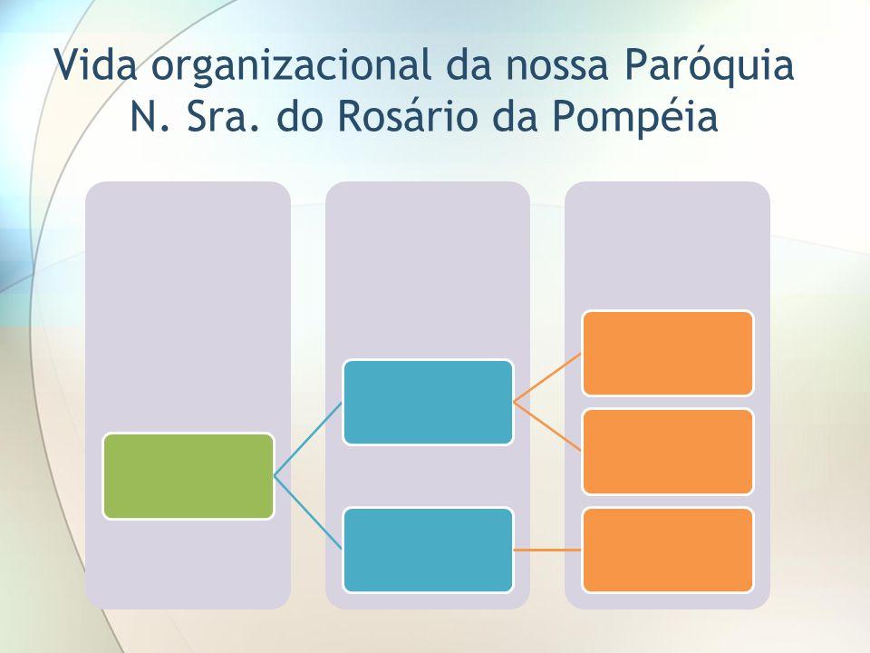 Vida organizacional da nossa Paróquia N. Sra. do Rosário da Pompéia