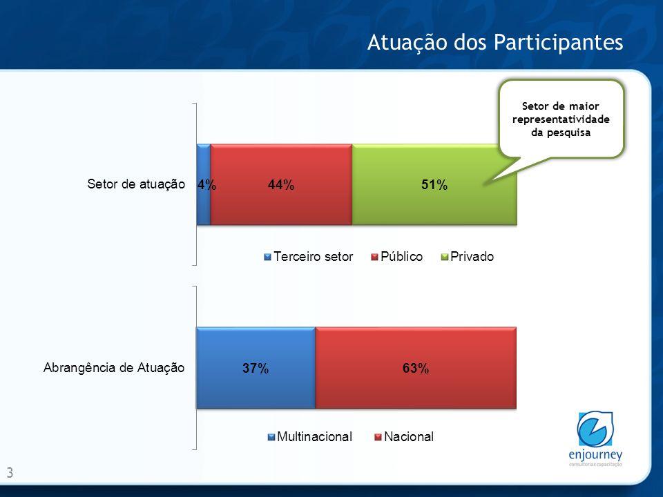 Atuação dos Participantes 4 Setor Elétrico - Segmento de maior representatividade da pesquisa