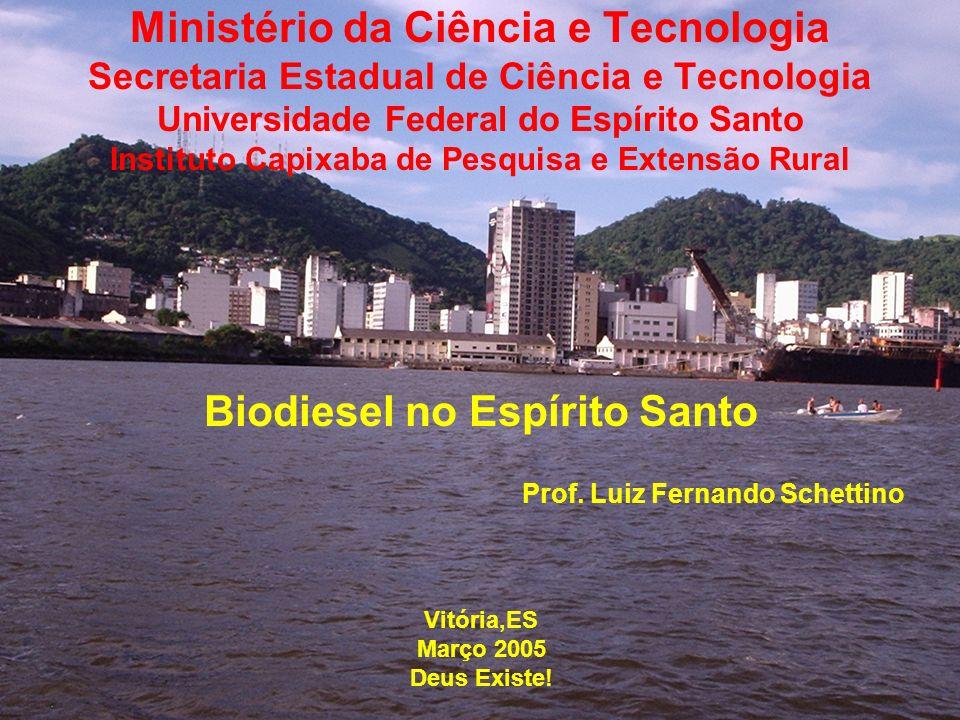 O Estado do Espírito Santo, não é um produtor tradicional de oleaginosas no Brasil.