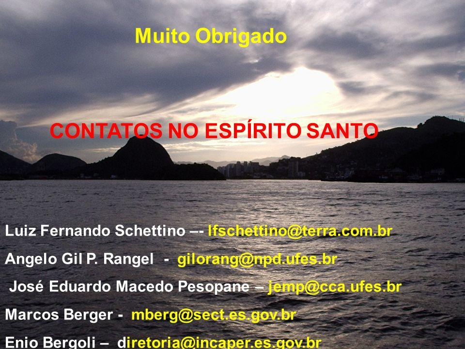 CONTATOS NO ESPÍRITO SANTO Luiz Fernando Schettino –- lfschettino@terra.com.br Angelo Gil P. Rangel - gilorang@npd.ufes.br José Eduardo Macedo Pesopan