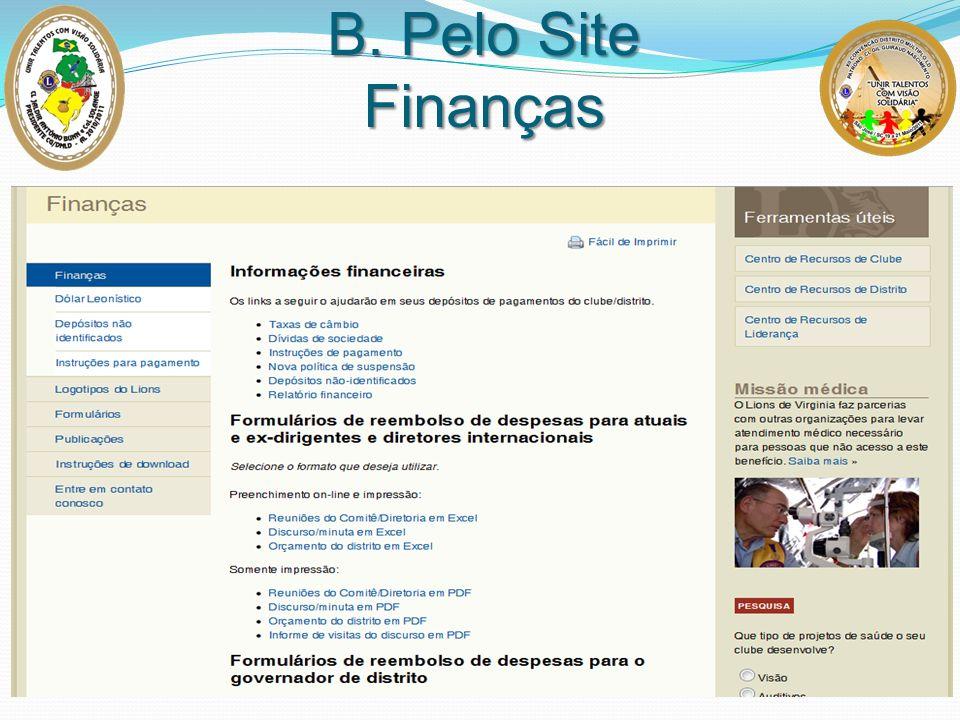 B. Pelo Site Finanças