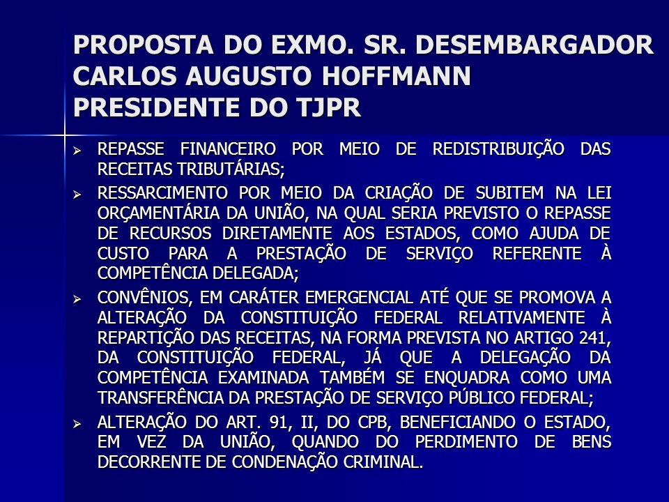 PROPOSTA DO EXMO. SR.