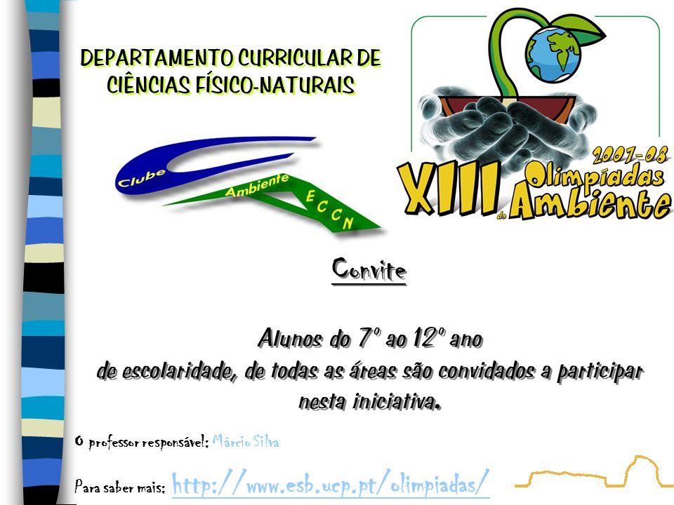 As XII Olimpíadas do Ambiente (OA) são um concurso de problemas e questões dirigido aos alunos do 7º ao 12º ano de escolaridade do ensino diurno e nocturno de escolas públicas, privadas ou do ensino cooperativo no território nacional, incluindo as regiões autónomas da Madeira e dos Açores.