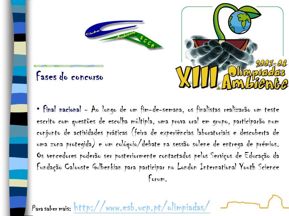 7 Janeiro 2008 Data limite para inscrições 16 Janeiro 2008 Realização da 1ª eliminatória em todas as escolas inscritas, pelas 14:00 (13:00 nos Açores).