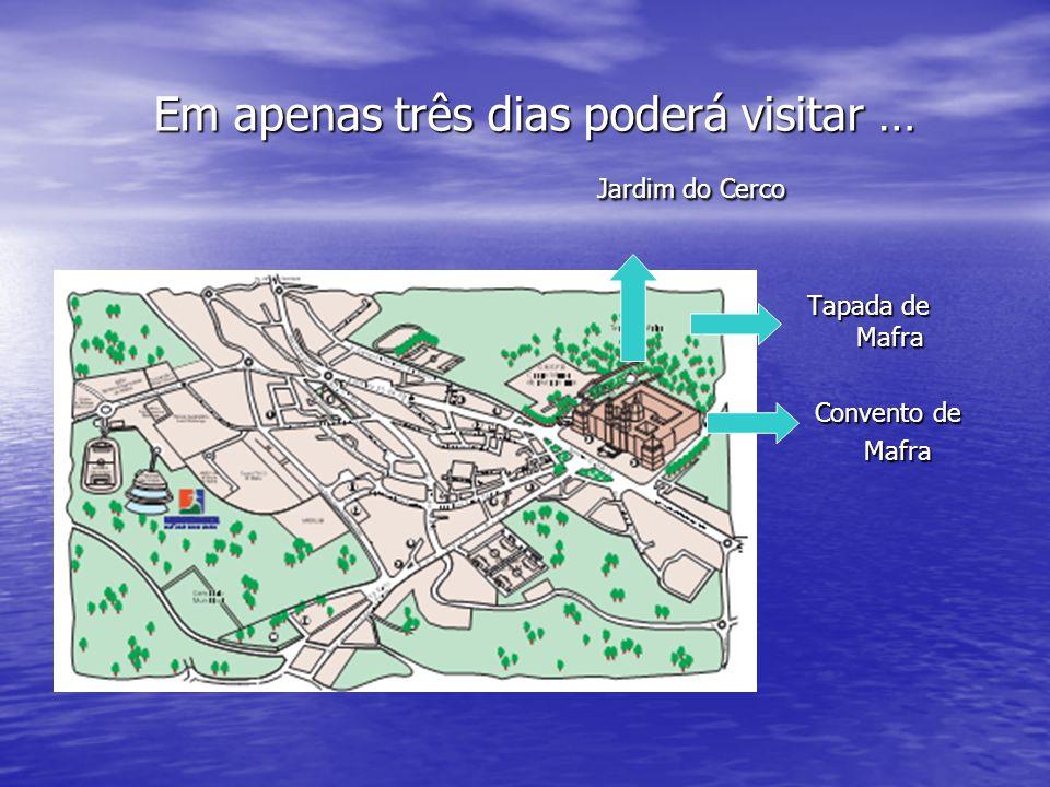 Os encantos deixados por D.João V… A cerca de 35 km de Lisboa, entre Sintra e Ericeira, perdida entre as serras e praias, descubra os encantos da pacata vila de Mafra.