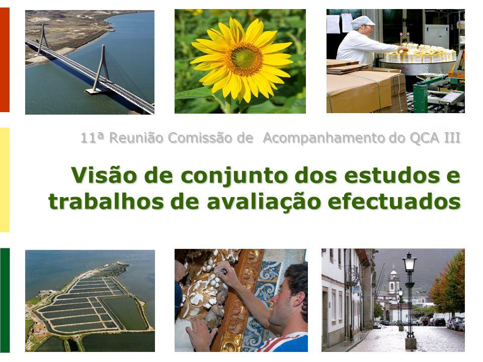 11ª Reunião Comissão de Acompanhamento do QCA III Visão de conjunto dos estudos e trabalhos de avaliação efectuados