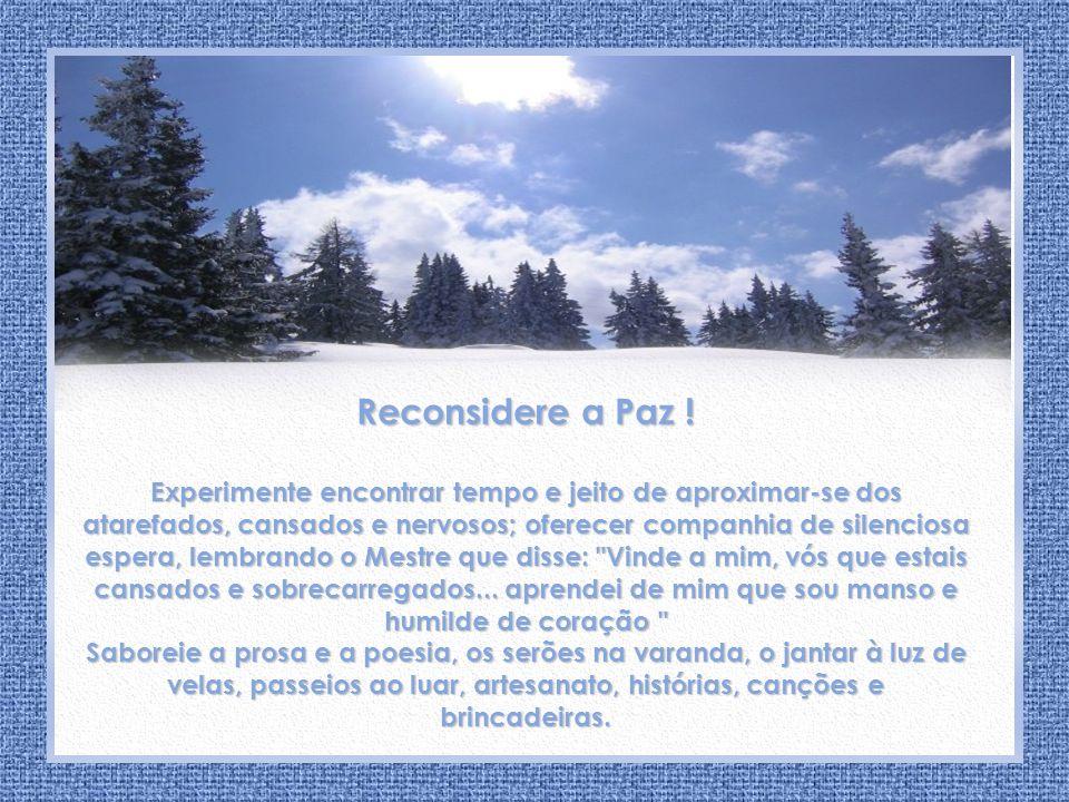 Aconchego de Paz Irmã Zuleides Andrade Reconsidere a Paz .