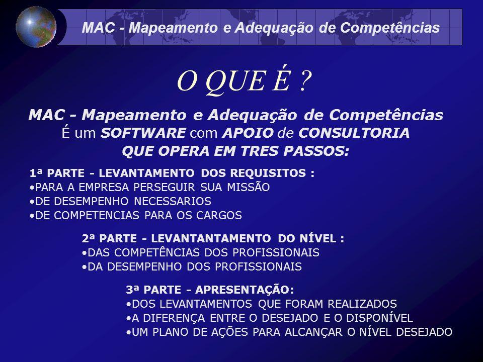 MAC - Mapeamento e Adequação de Competências O QUE É .