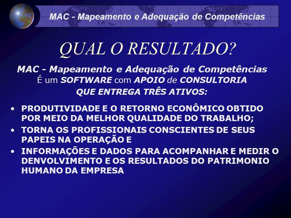 MAC - Mapeamento e Adequação de Competências QUAL O RESULTADO.