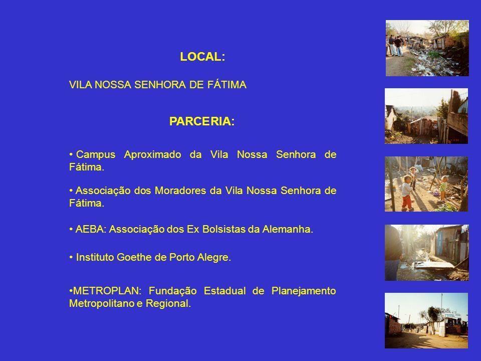 Disciplina de Projeto de Edificação VI 9º nível PROPOSTA: Intervenção do Acadêmico de Arquitetura e Urbanismo na Realidade da CIDADE INFORMAL DESAFIO: