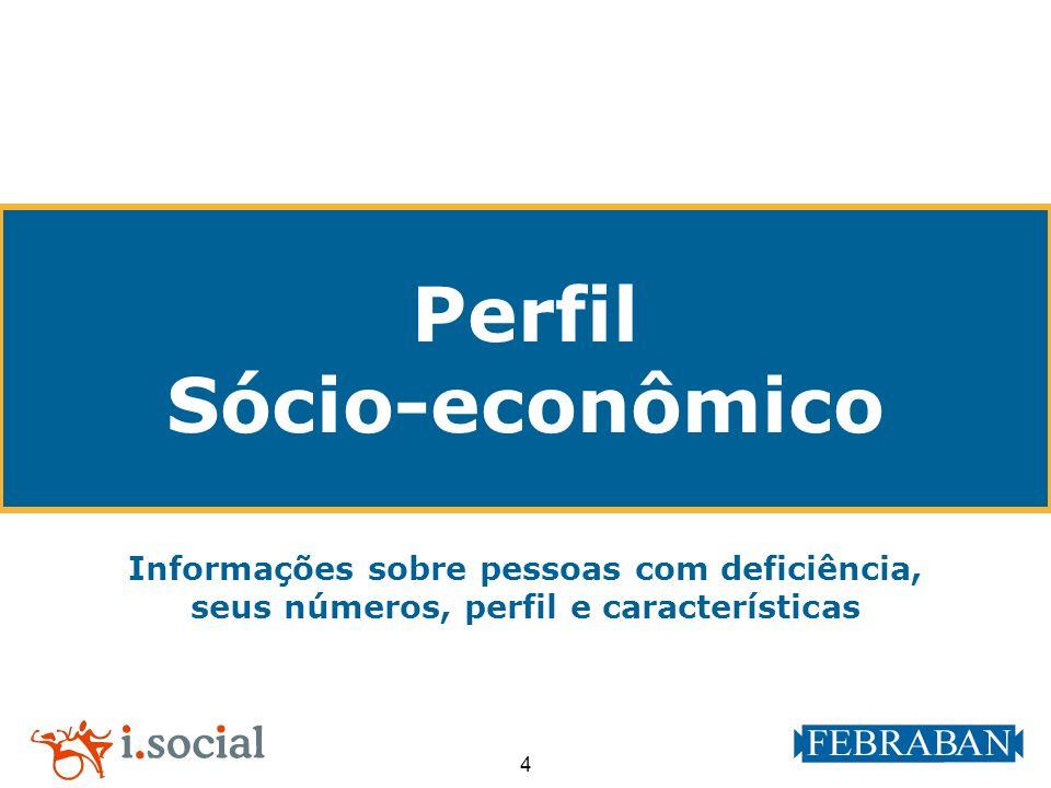 4 Perfil Sócio-econômico Informações sobre pessoas com deficiência, seus números, perfil e características