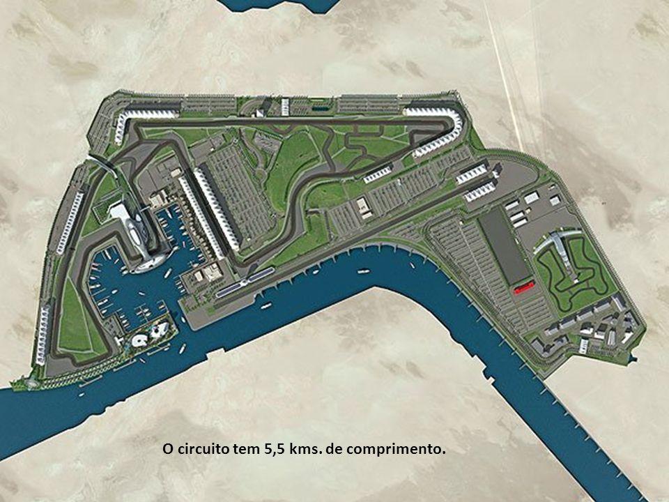 O circuito tem 5,5 kms. de comprimento.