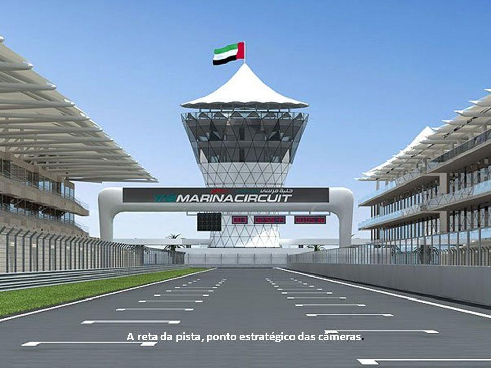 Esta é a visão que os pilotos tem ao correr na pista.