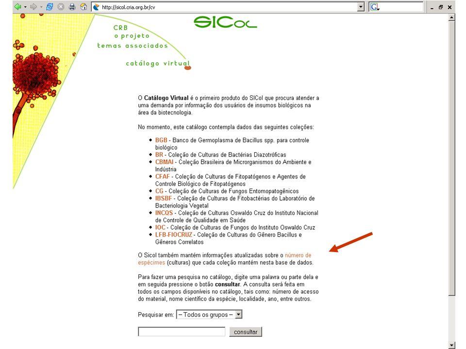 Resultado do esforço conjunto... http://sicol.cria.org.br/cv
