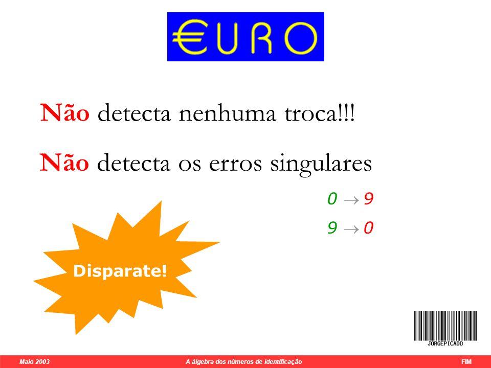 Maio 2003 A álgebra dos números de identificação 15 M31326815416