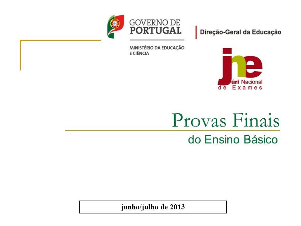 Provas Finais do Ensino Básico junho/julho de 2013