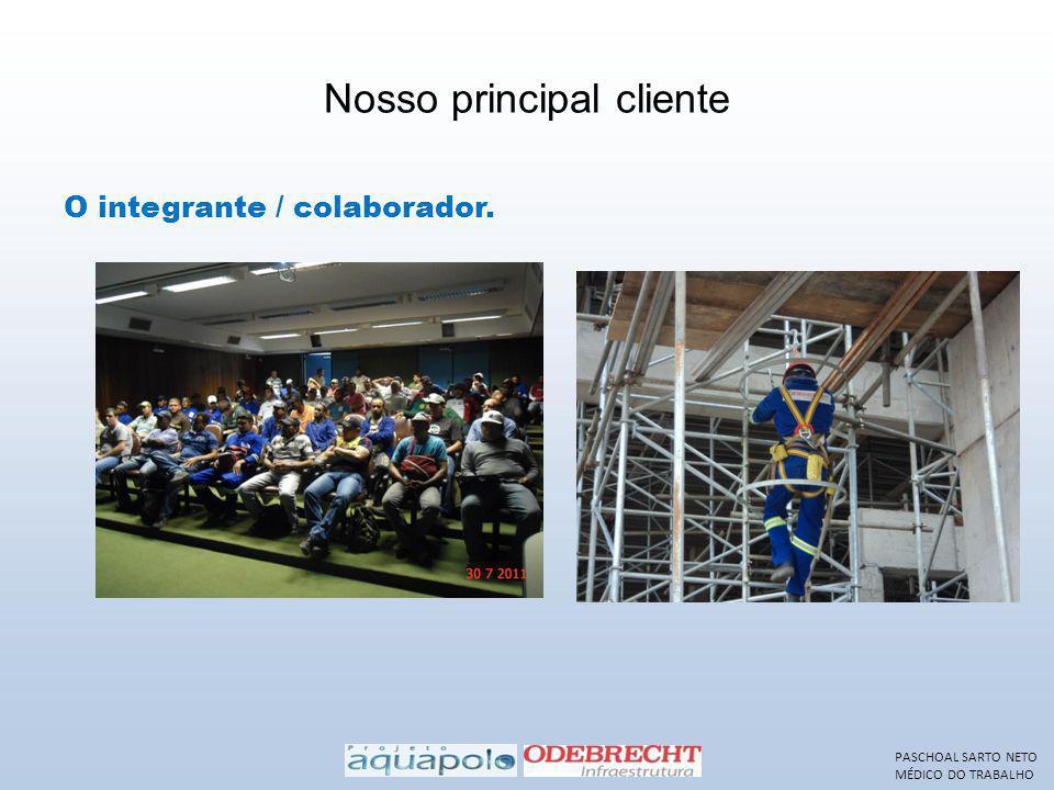 Nosso principal cliente O integrante / colaborador. PASCHOAL SARTO NETO MÉDICO DO TRABALHO