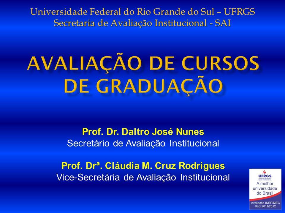 Secretaria de Avaliação Institucional - SAI Universidade Federal do Rio Grande do Sul – UFRGS Secretaria de Avaliação Institucional - SAI Prof. Dr. Da