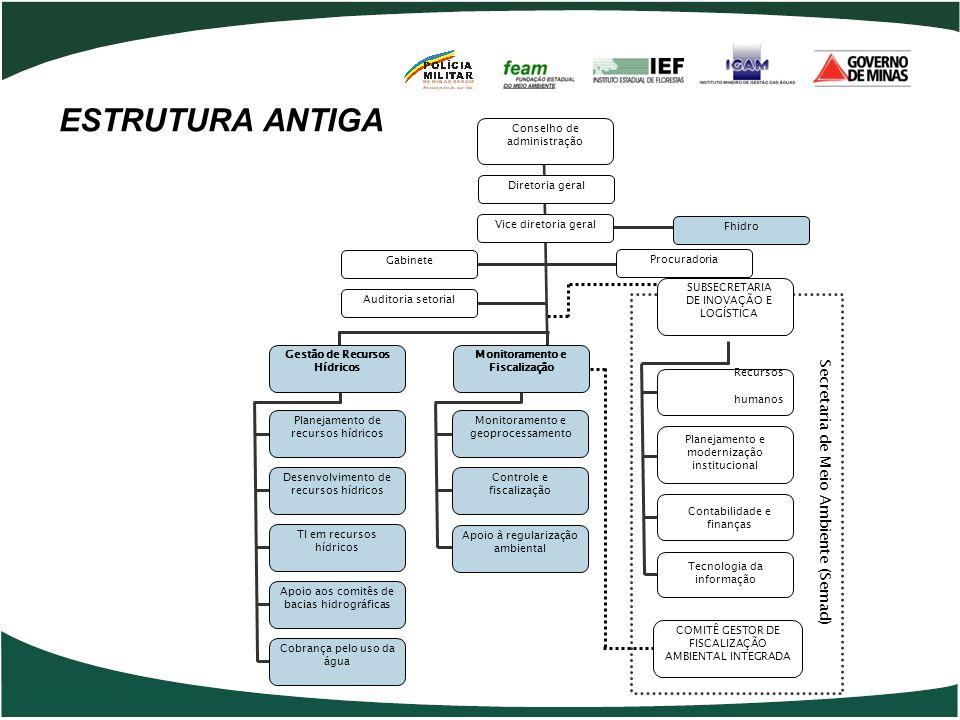 Secretaria de Meio Ambiente (Semad) Contabilidade e finanças Tecnologia da informação Planejamento e modernização institucional Recursos humanos SUBSE