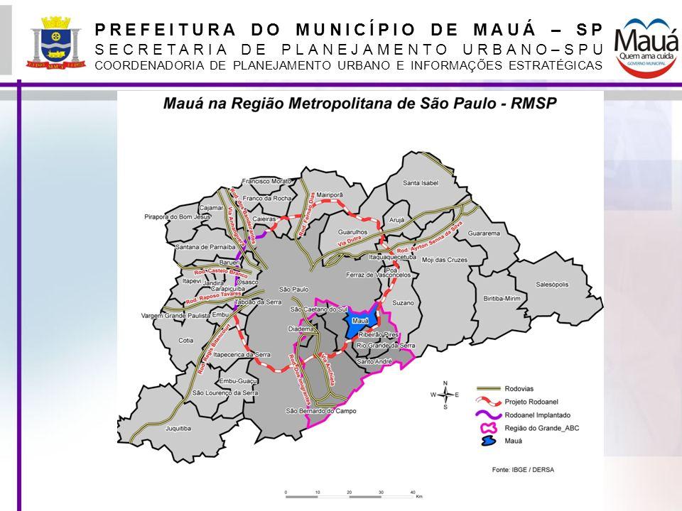 PREFEITURA DO MUNICÍPIO DE MAUÁ – SP SECRETARIA DE PLANEJAMENTO URBANO–SPU COORDENADORIA DE PLANEJAMENTO URBANO E INFORMAÇÕES ESTRATÉGICAS Digitalização, vetorização e georreferenciamento de plantas Foram digitalizadas, vetorizadas e georreferenciadas todas as plantas de loteamento O mapeamento das áreas públicas municipais foi digitalizado diretamente na base cartográfica digital Os lotes fiscais foram digitalizados e georreferenciados diretamente na base cartográfica digital