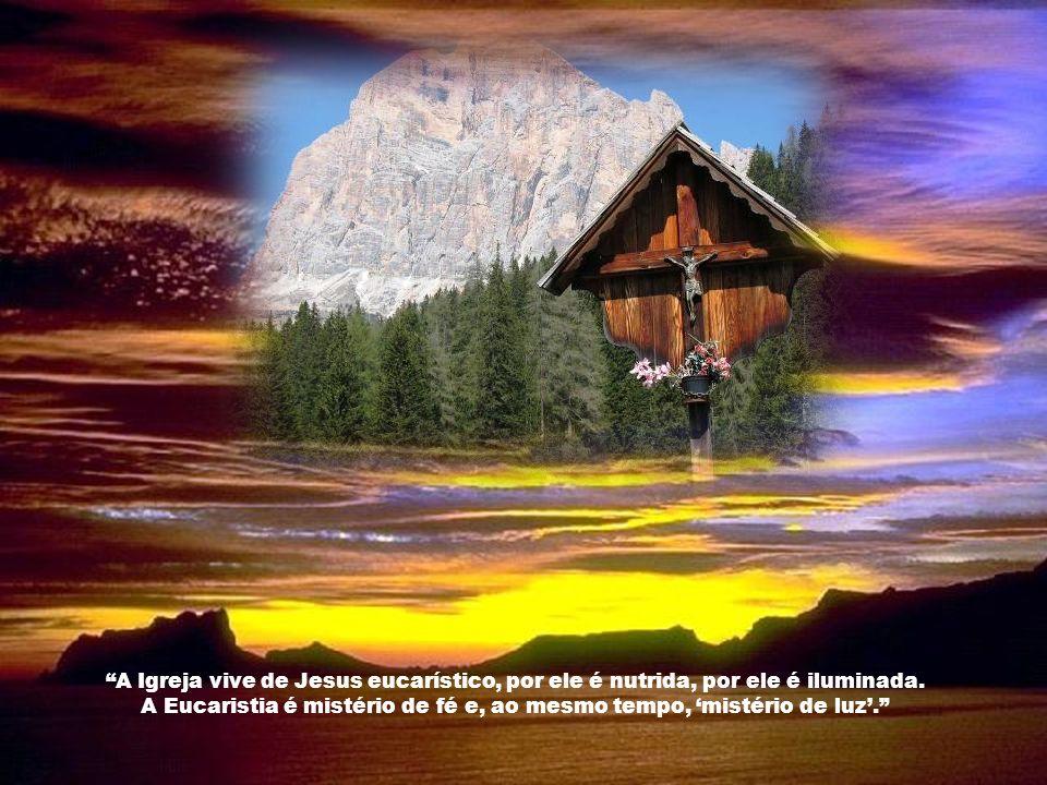 O Pão eucarístico que recebemos é a carne imaculada do Filho. Nossa Senhora, interceda por nós seus filhos e filhas. Amém