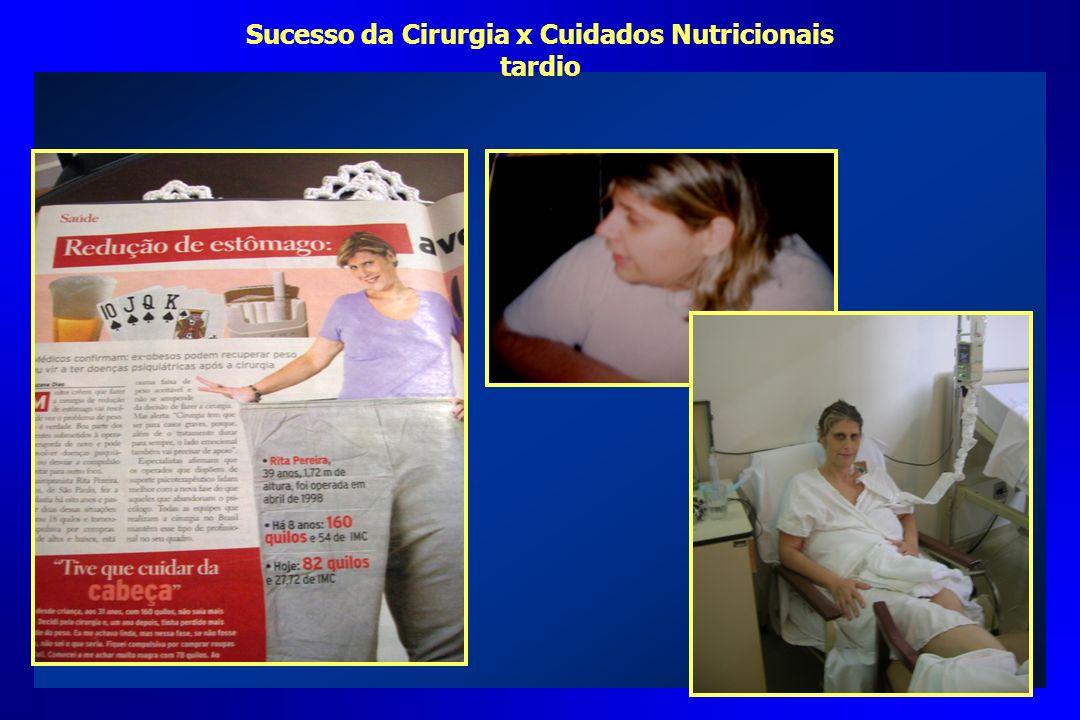 Sucesso da Cirurgia x Cuidados Nutricionais tardio