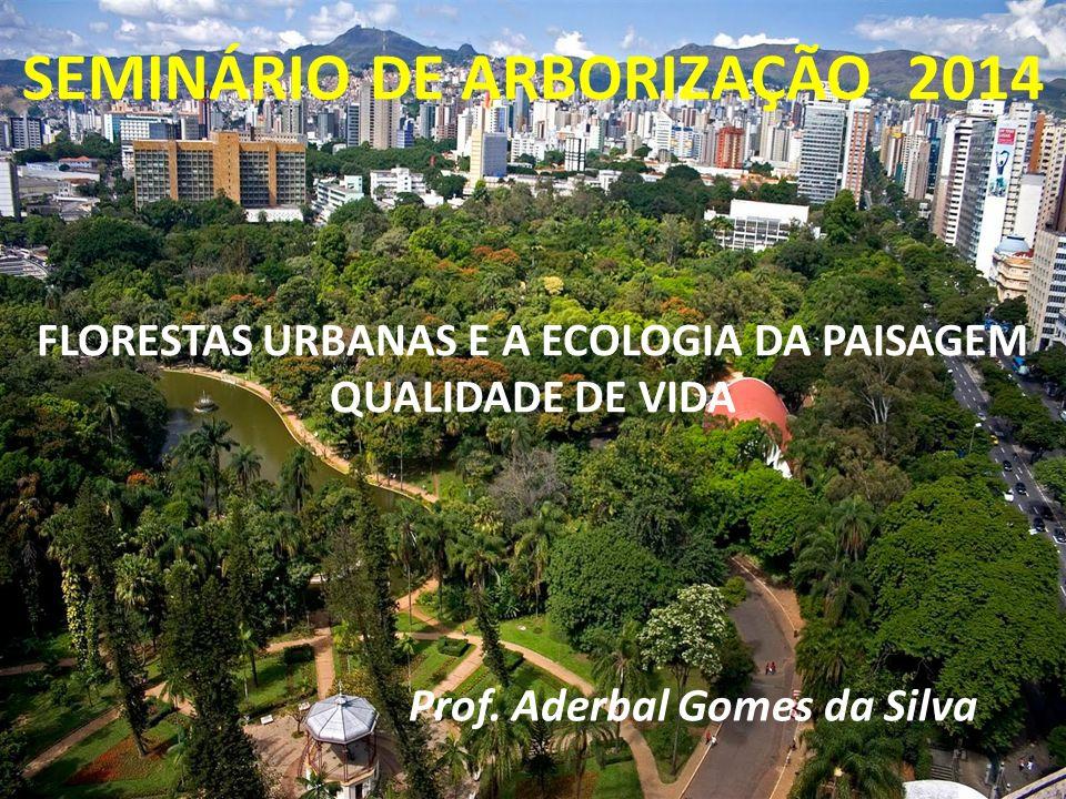 FLORESTAS URBANAS, ECOLOGIA DA PAISAGEM E QUALIDADE DE VIDA Prof. Dsc. Aderbal Gomes da Silva FLORESTAS URBANAS E A ECOLOGIA DA PAISAGEM QUALIDADE DE