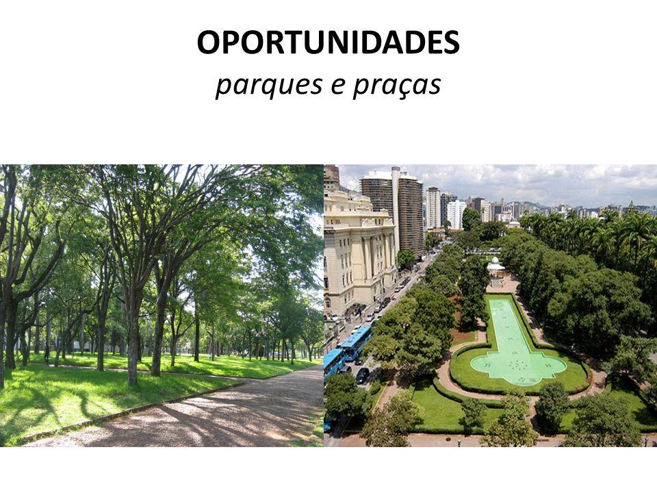 OPORTUNIDADES parques e praças