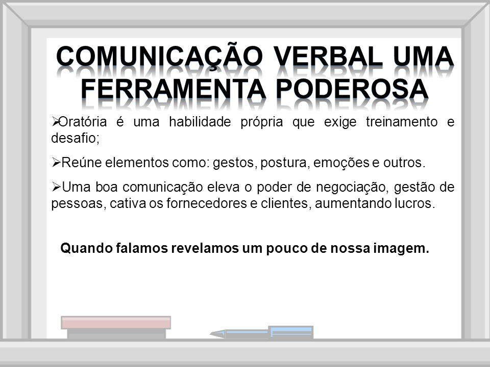 Oratória e técnicas de comunicação em público; Normas de Conduta e Apresentação; Utilização de Recursos Visuais.